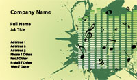 Music Notes Business Card Template